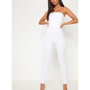 c826c2e5b97 PrettyLittleThing Other - New with tags white PLT buckle jumpsuit sz 10